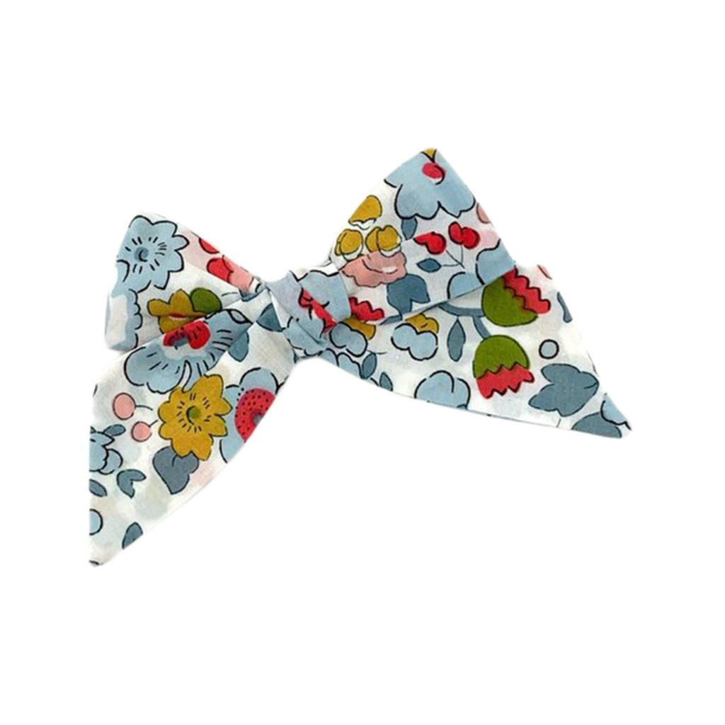 Liberty London Floral Blue Bow Barette