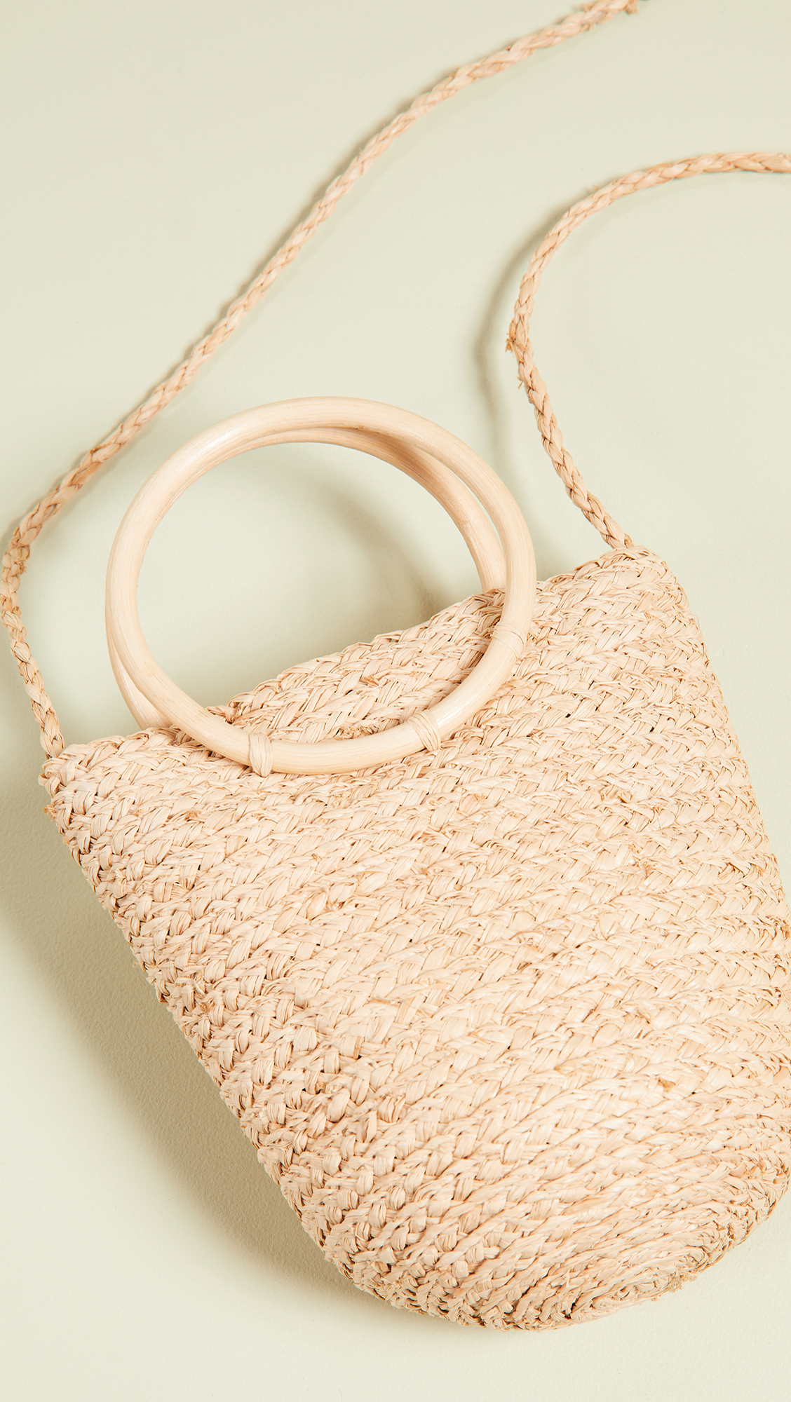 Straw Mini Bangle Bag