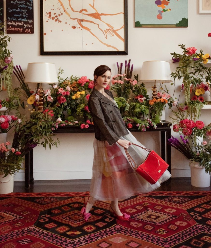 Rachel Brosnahan Kate Spade's niece in the Frances Valentine spring 2019 campaign