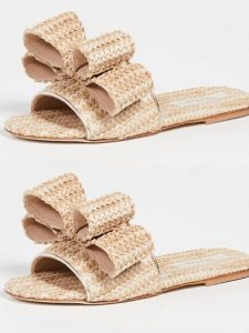 The Daily Hunt: Raffia Bow Slides
