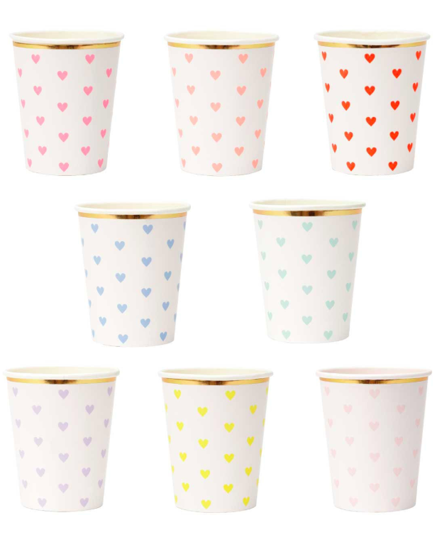 Heart Paper Cups