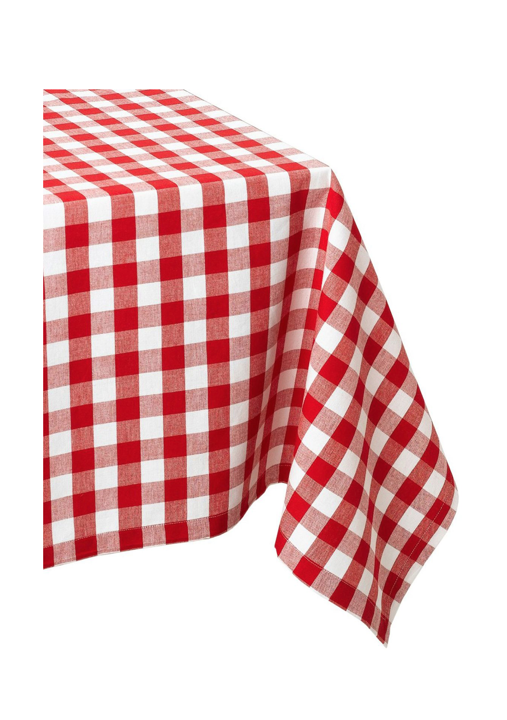 Red White Grid Table Cloth