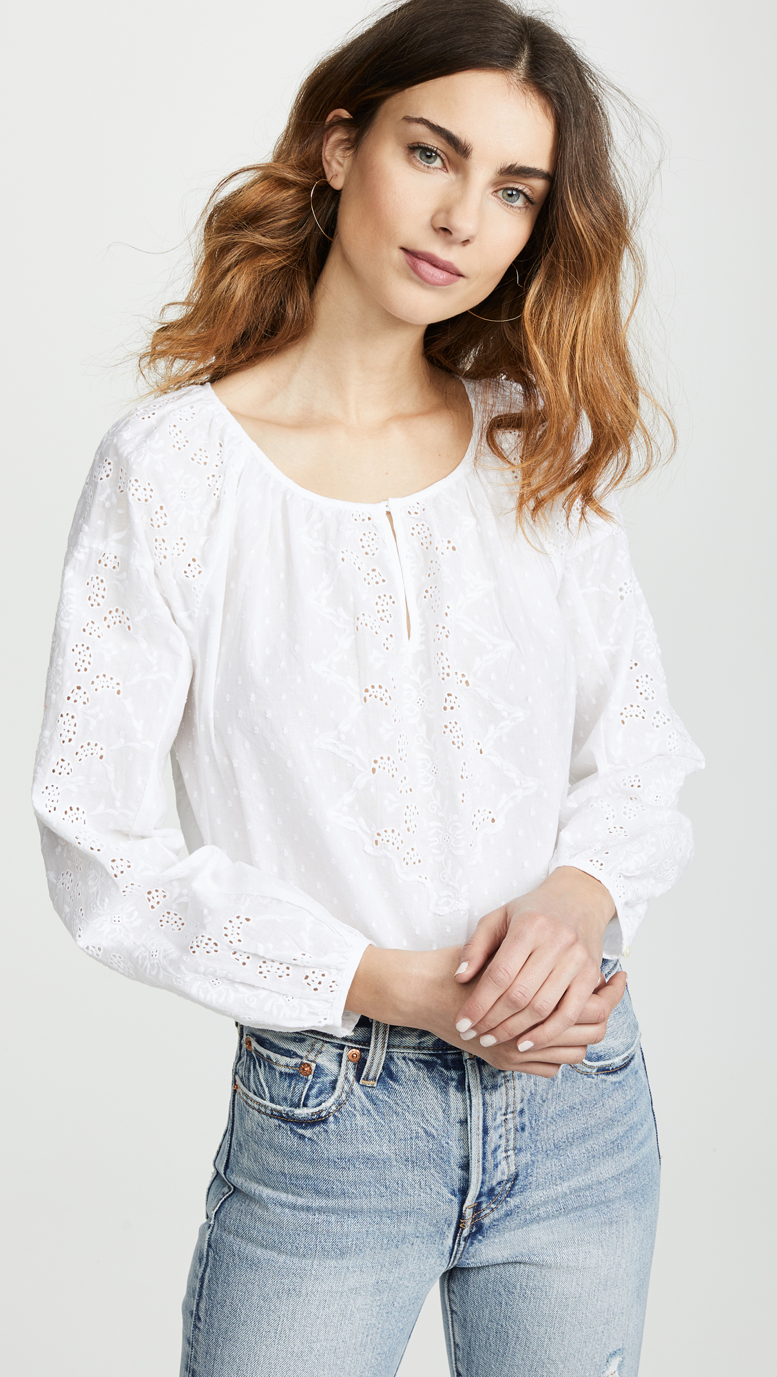 Lightweight Weave White Top
