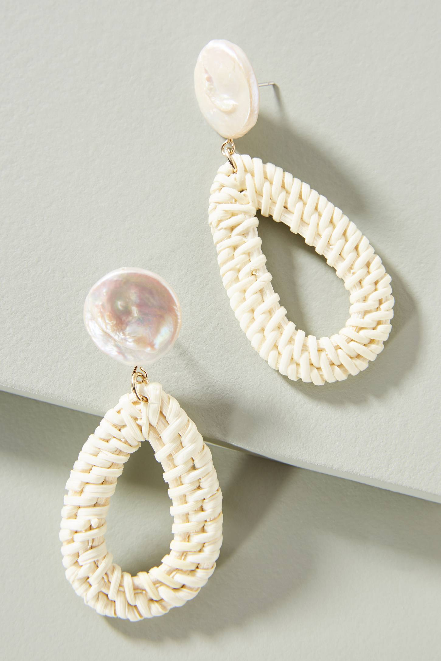 Wicker Teardrop Earrings
