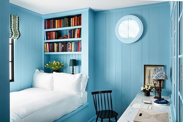 Blue Bedroom at 850 Hotel West Hollywood by Rita Konig