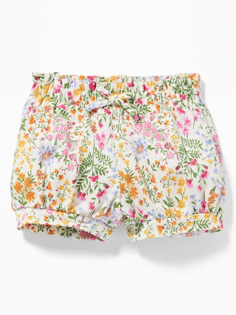 Floral Bubble Shorts Baby Girl