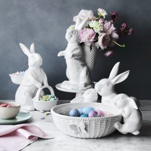 Bunny Bowl with Two Baskets