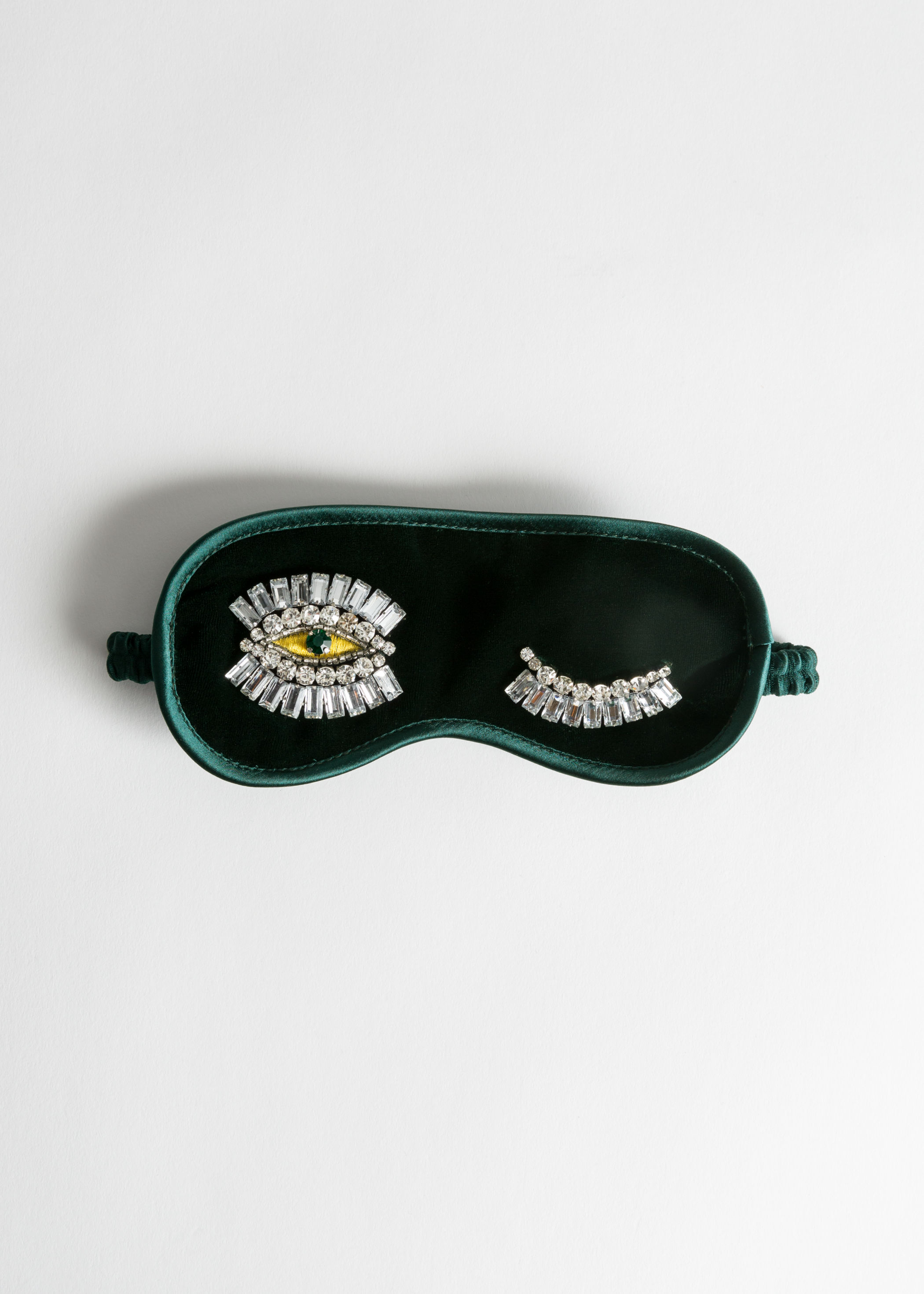 Jeweled Wink Velvet Eye Mask