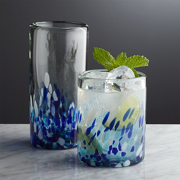 Speckled Glass Cups