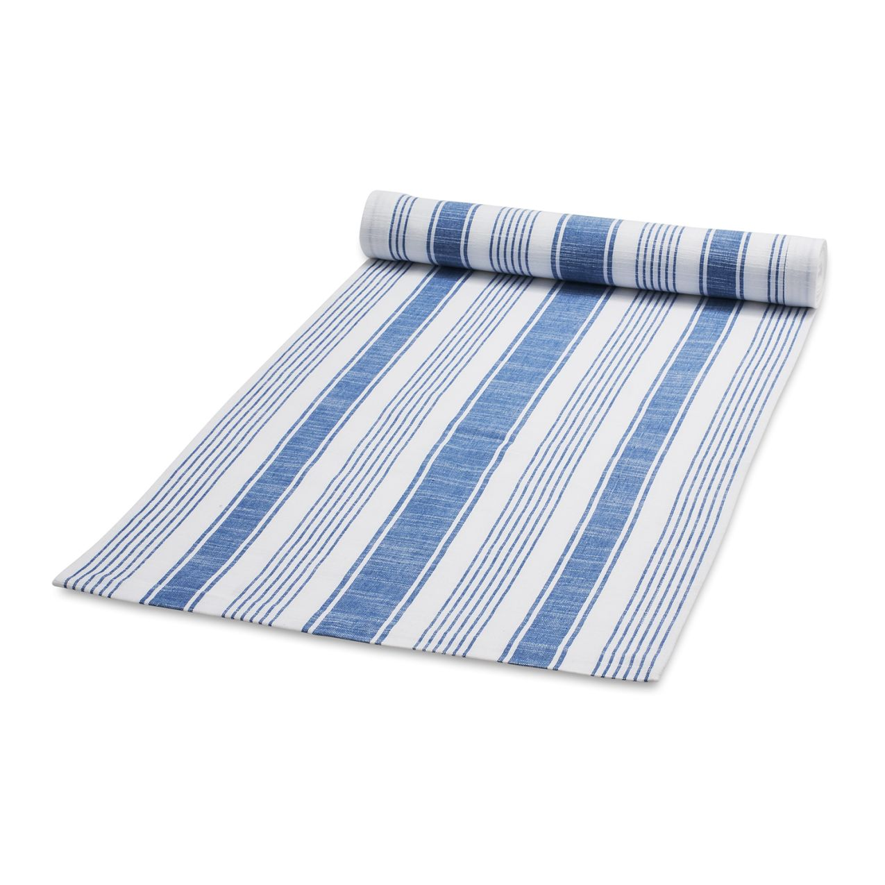 Striped Blue Table Runner