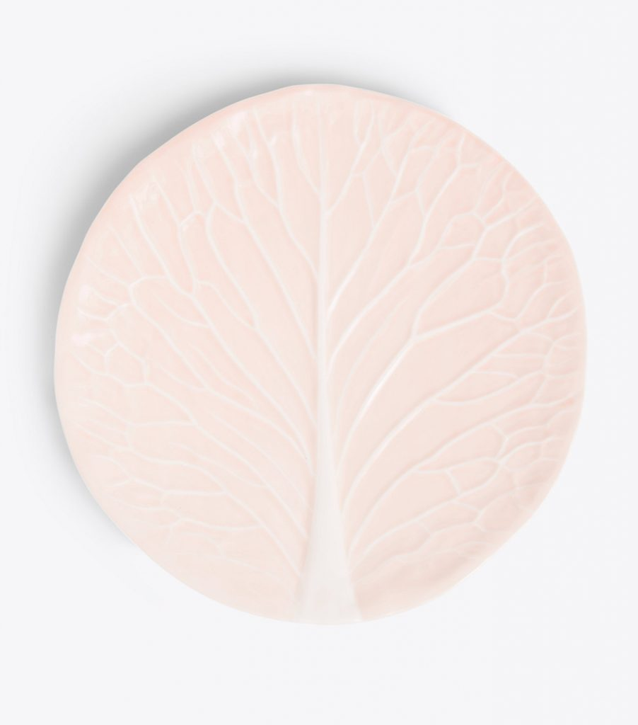 Pink Lettuce Ware Plate Dodie Thayer for Tory Burch
