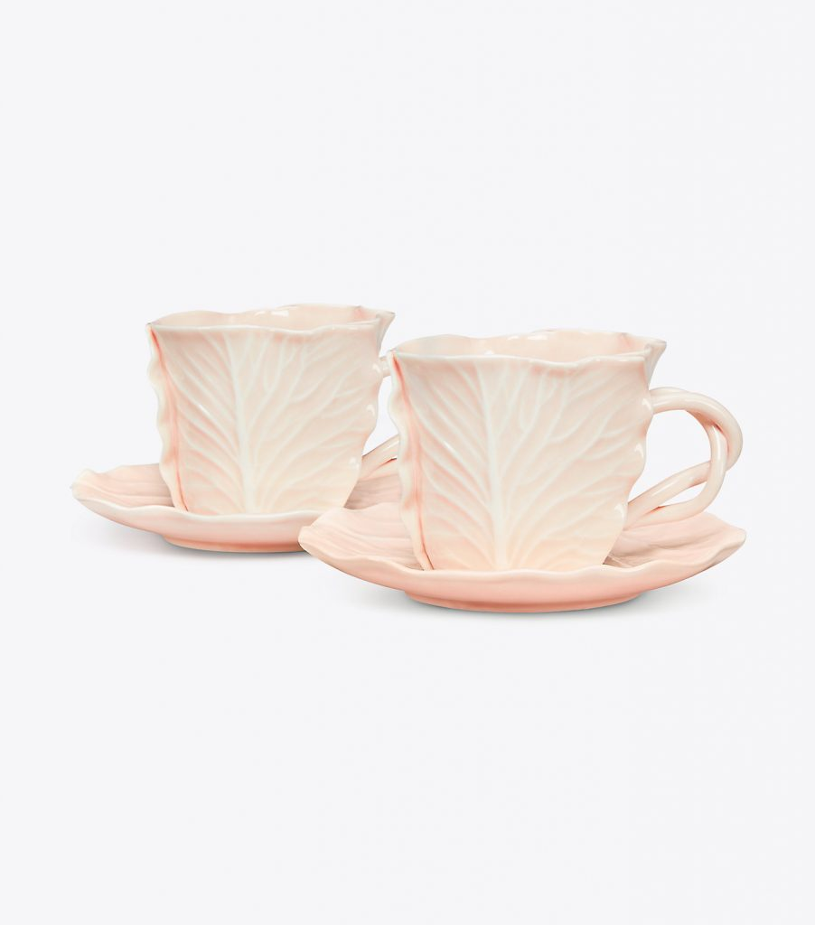 Lettuce Ware Teacups Pink Dodie Thayer for Tory Burch