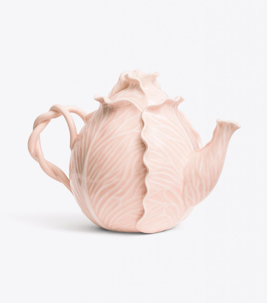 Tory Burch Dodie Thayer Lettuce Ware Pink Teapot