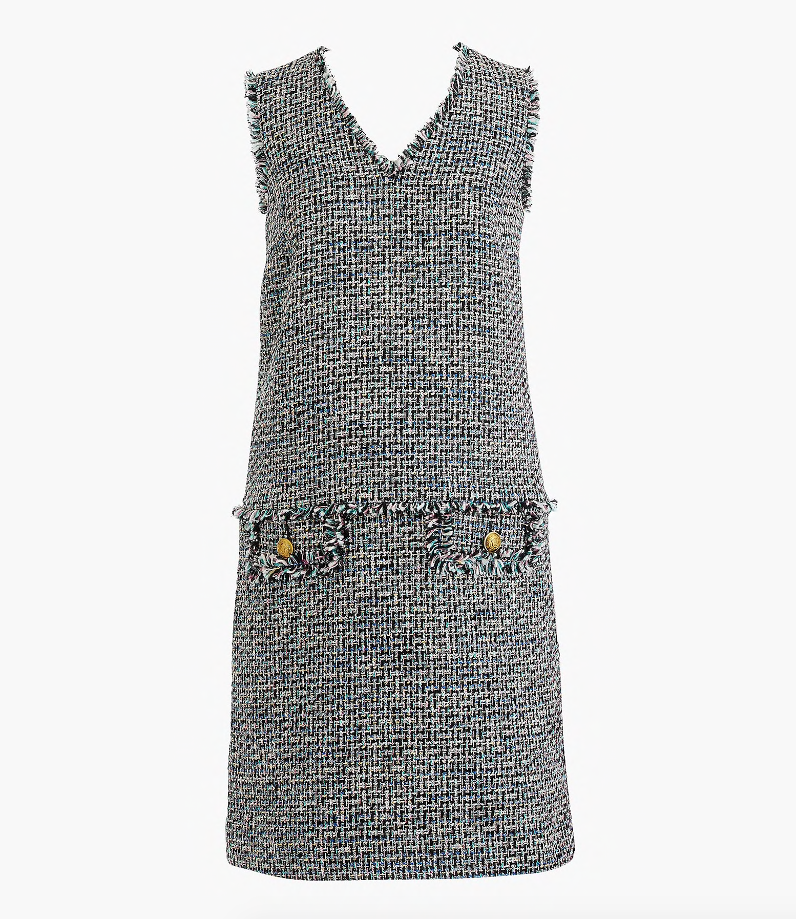 Fringe Tweed Dress