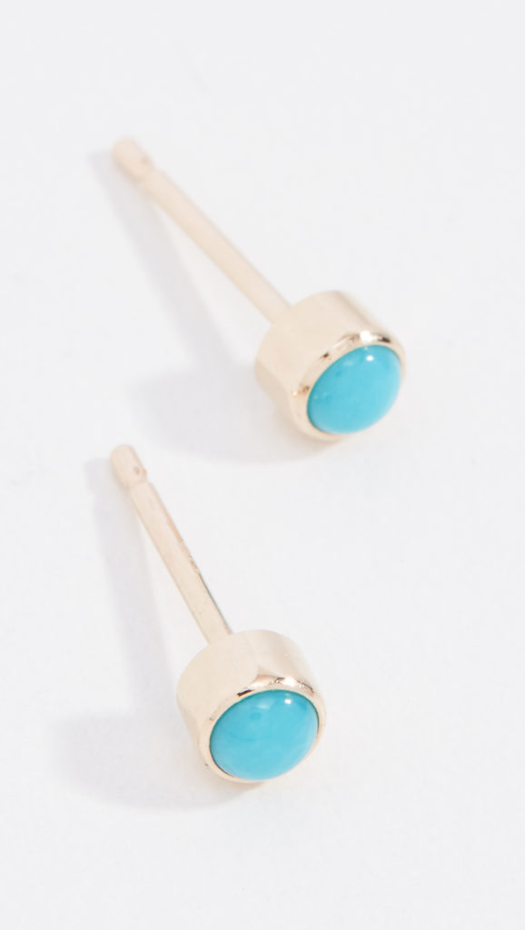 14k Gold and Turquoise Gemstones