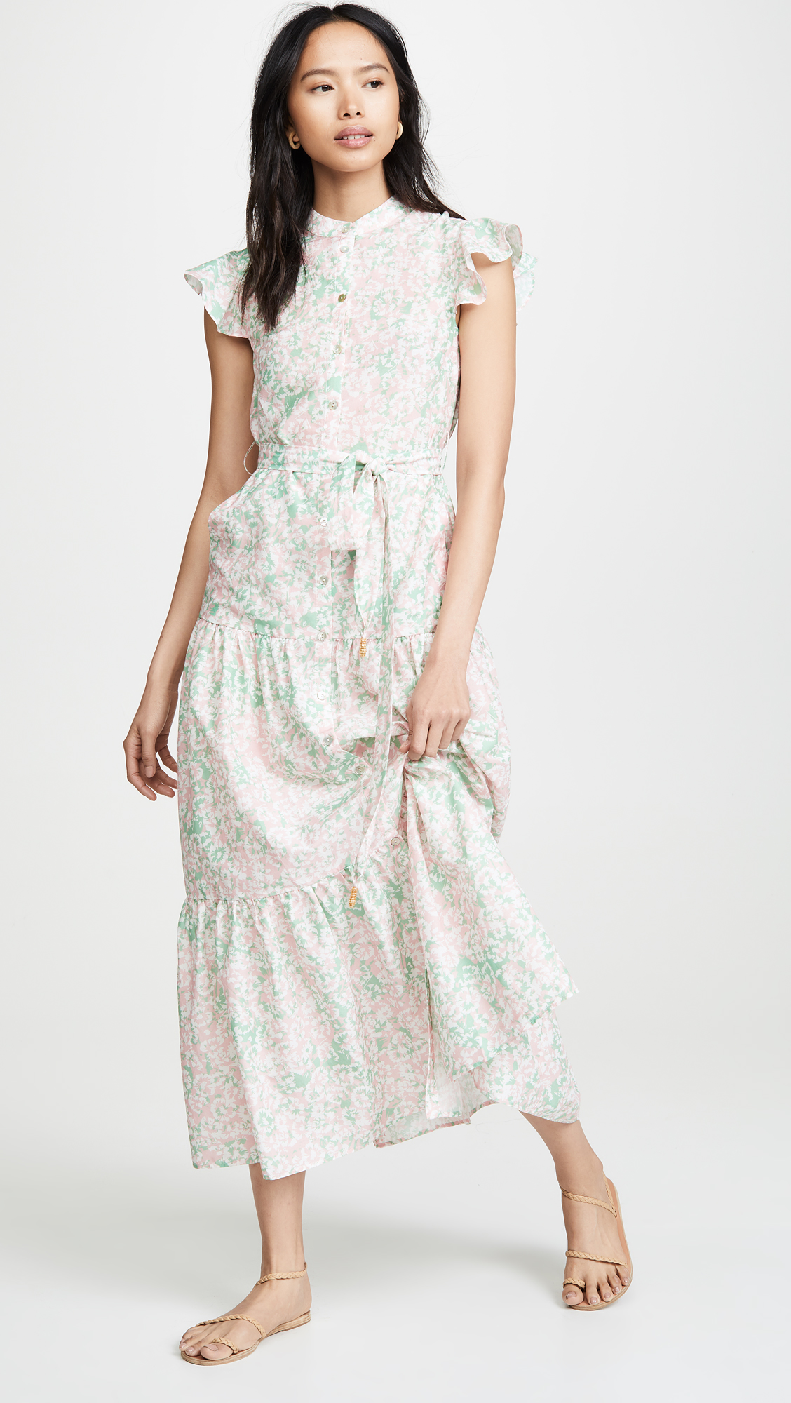 Tiered Floral Maxi Dress