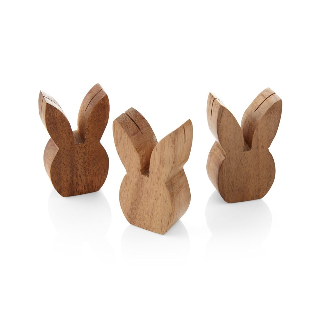 Wood Bunny Placecard Holders