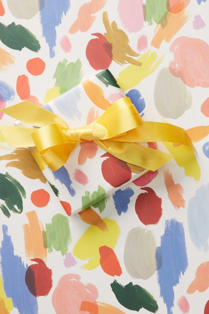 Paint Palette Wrapping Paper