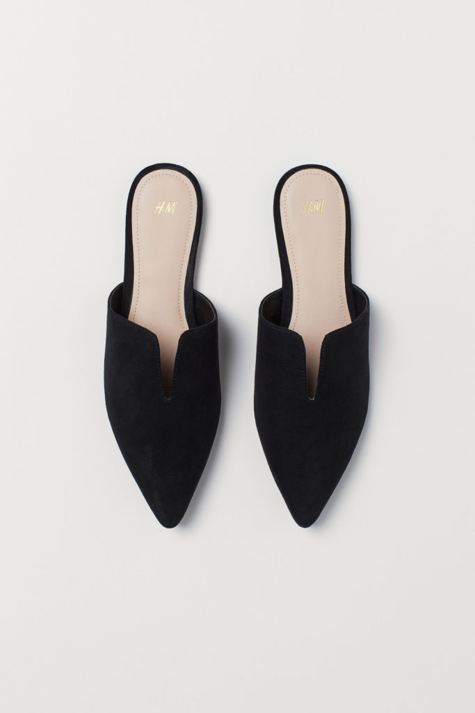 Black Pointed Mules