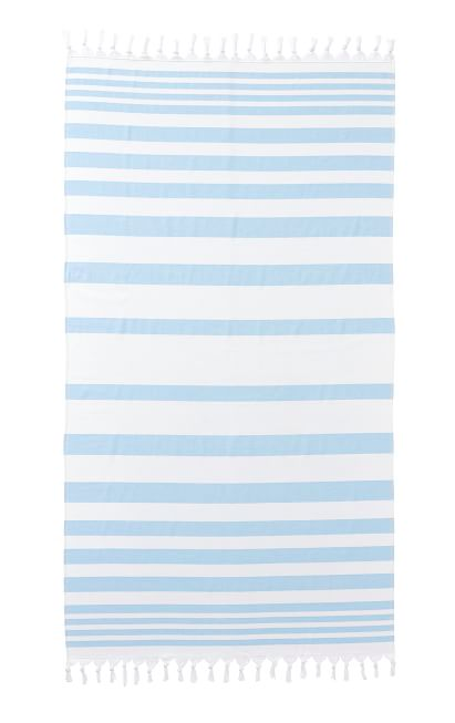 Blue White Stripe Turkish Towel