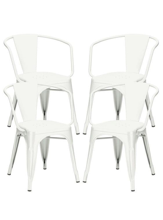 White Metal Bistro Chairs