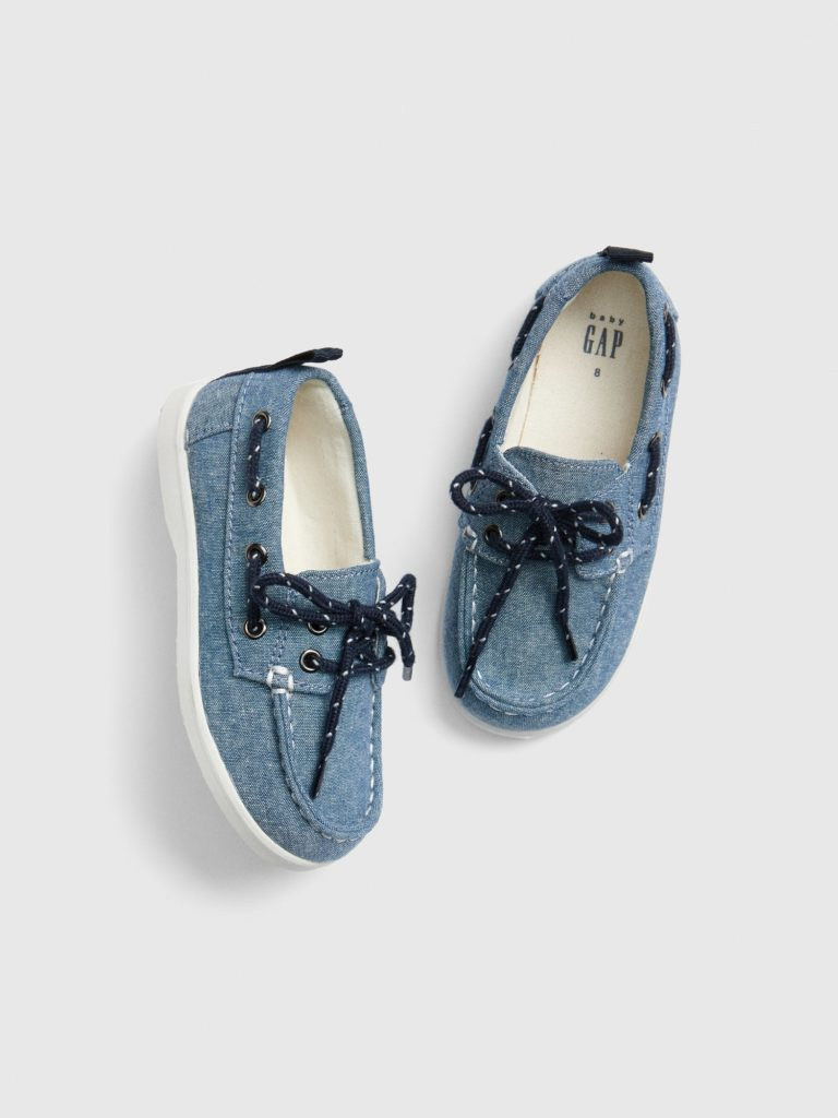 Baby Chambray Boat Shoes