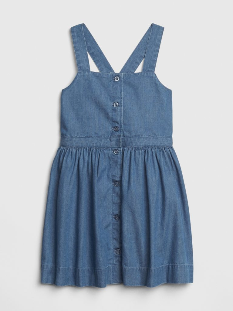 Toddler Girls' Denim Button-Front Dress