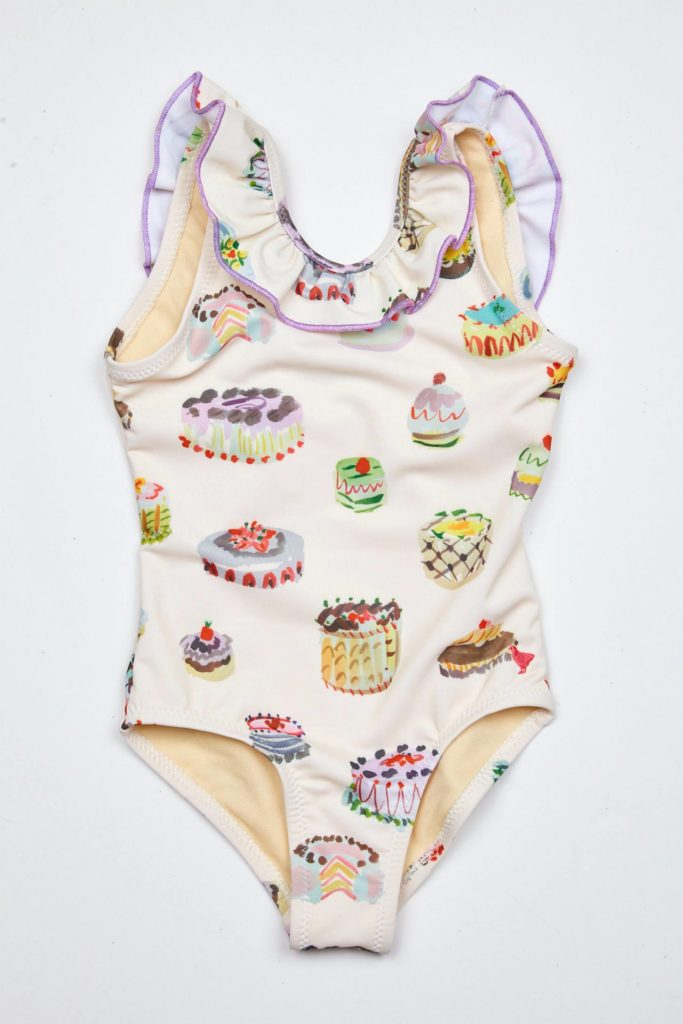 Desserts Ruffle Swimsuit Little Girls