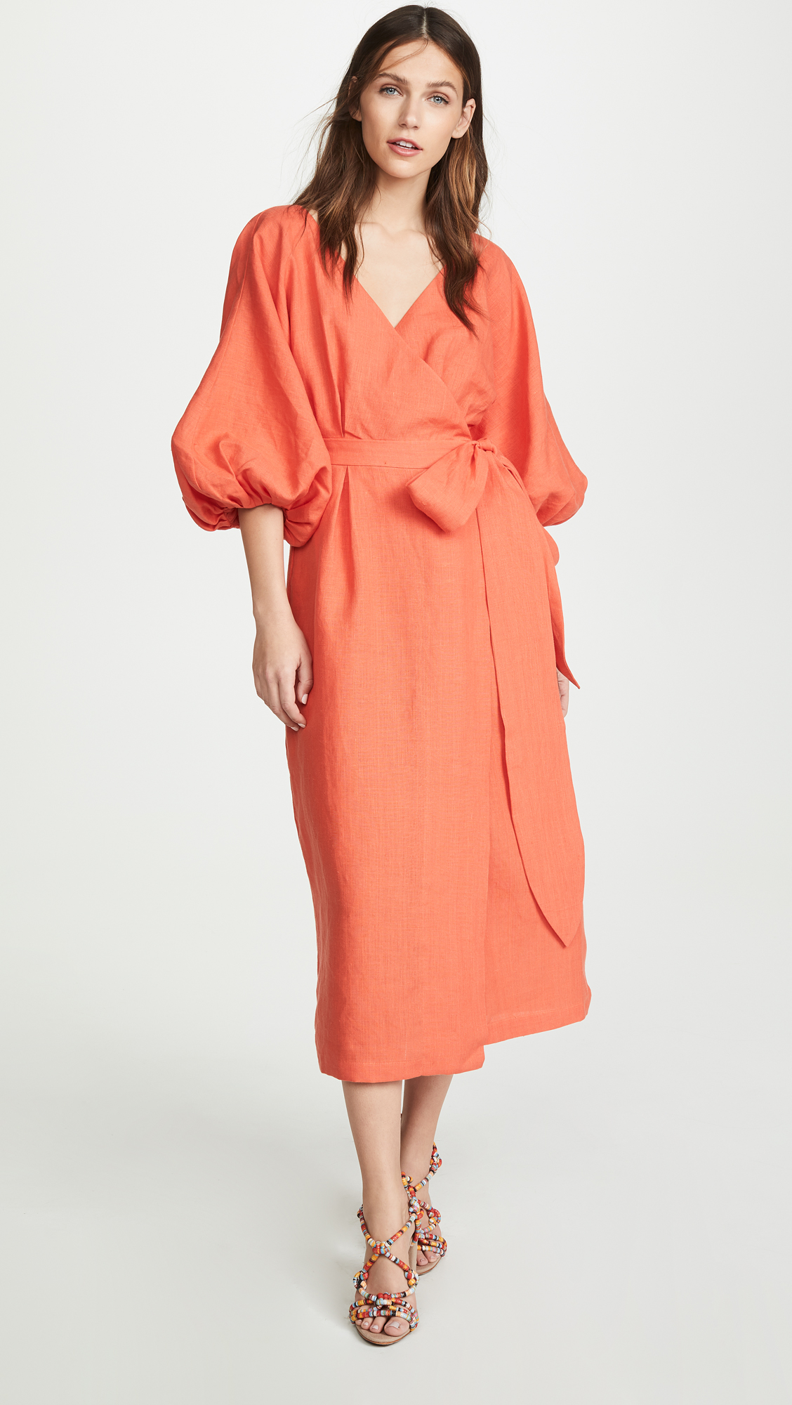 Francesca Poppy Midi Dress Mara Hoffman
