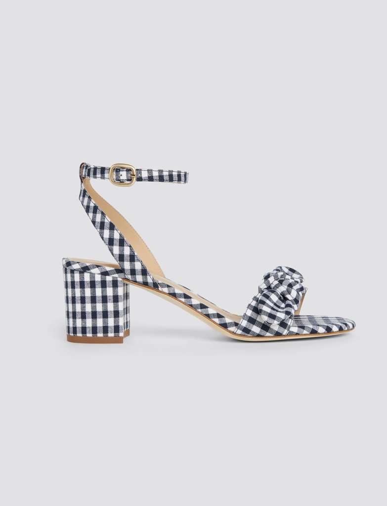 Gingham Bow Sandals