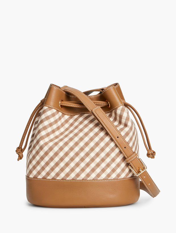 Gingham Bucket Bag