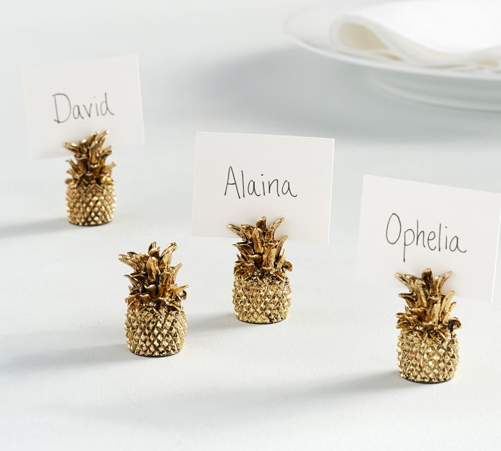 Gold Pineapple Place Card Napkins