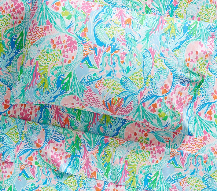 Lilly Pulitzer Organic Mermaid Cove Sheet Set
