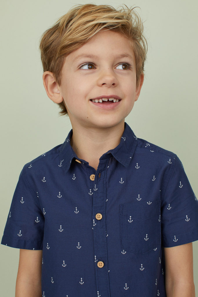 Anchor Print Boys' Shirt