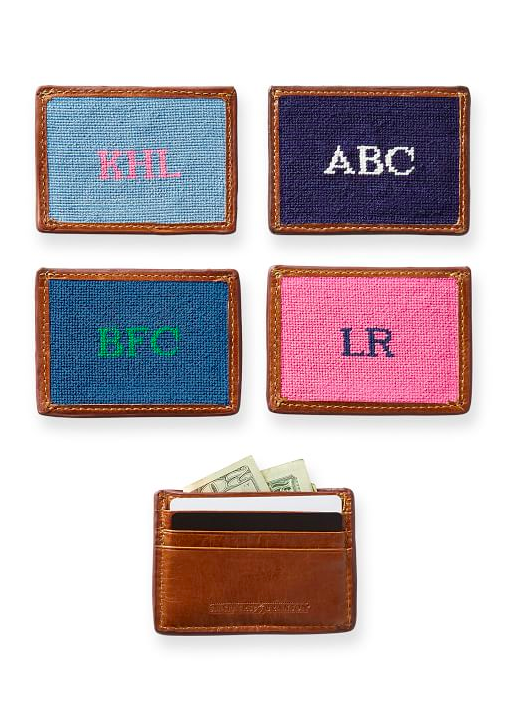Needlepoint Monogram Card Case