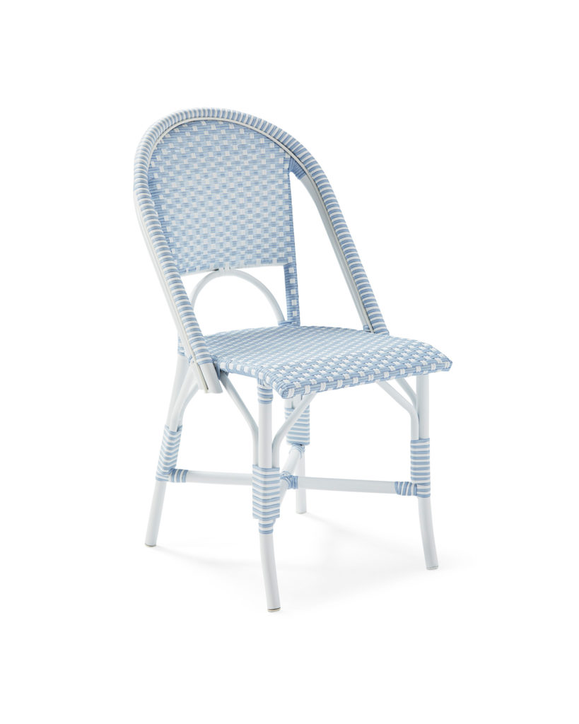 Outdoor Patio Bistro Chair Blue and White