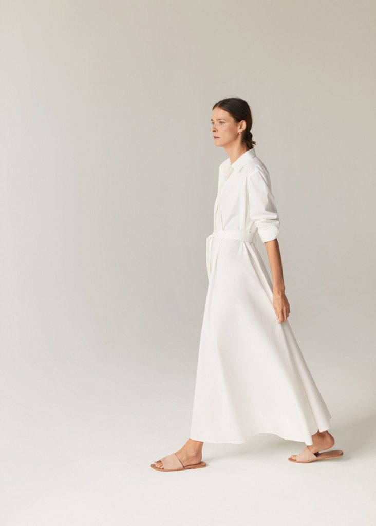 White Oversized Maxi Shirtdress