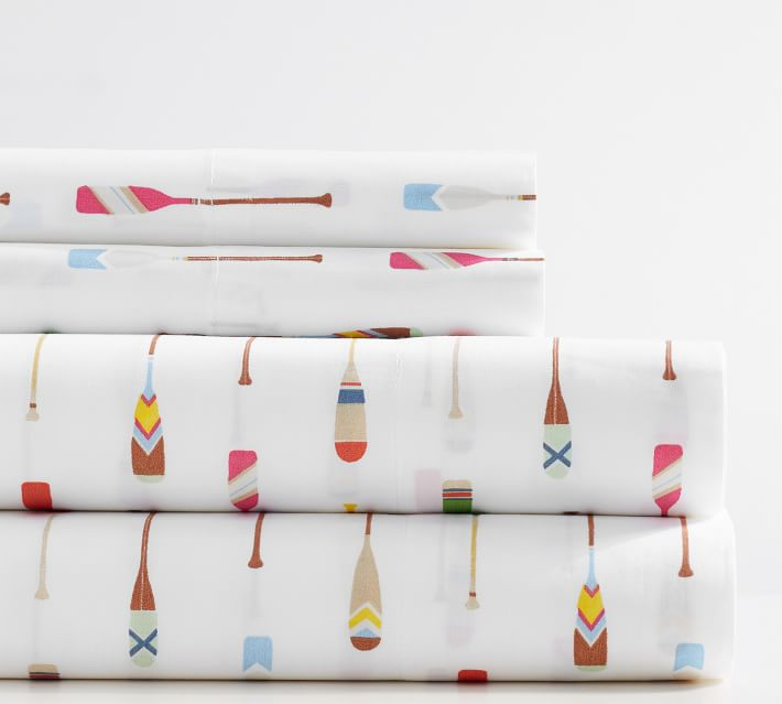 Paddle Print Organic Sheet Set for Kids
