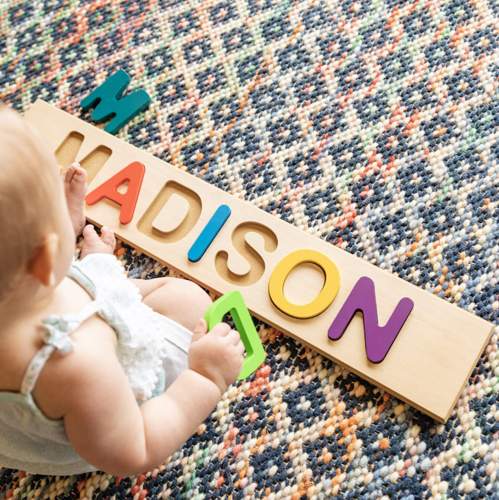 Personalized Custom Baby Name Puzzle Wooden