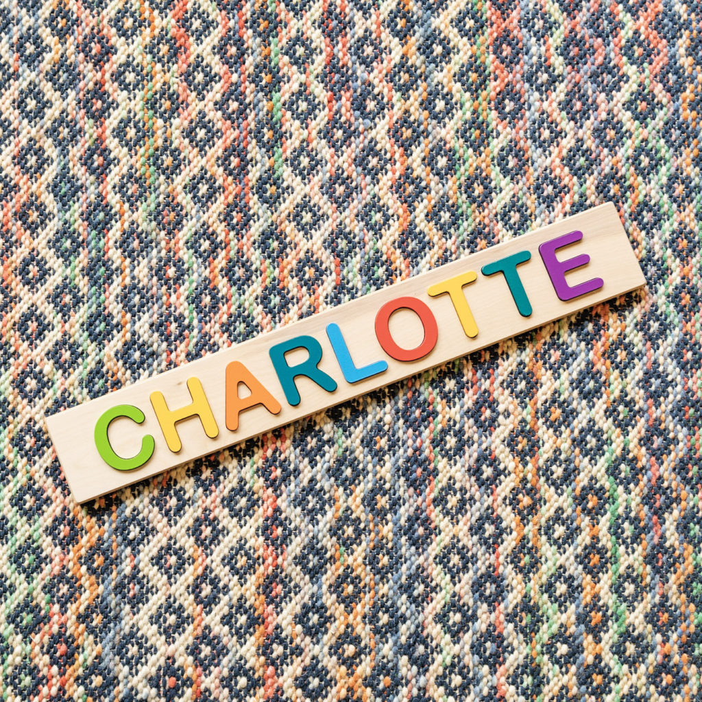 Personalized Baby Name Puzzle Wooden Etsy Custom