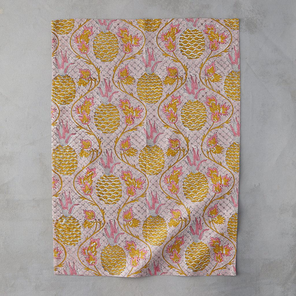 Pineapple Pink Tea Towel