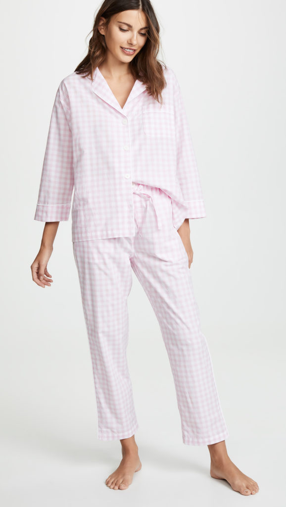 Pink Gingham Pajama Set