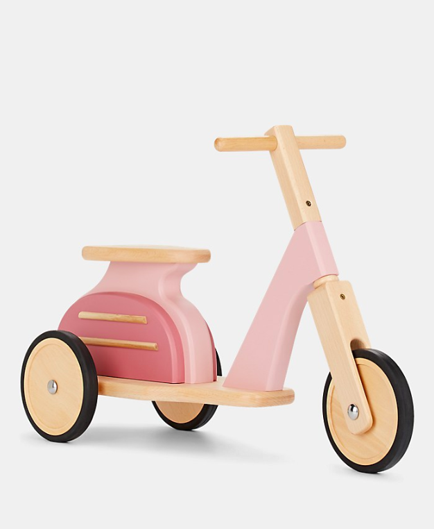Pink Wooden Scooter Kids'
