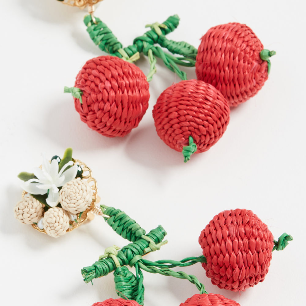 The Daily Hunt: Cherry Raffia Earrings and more!
