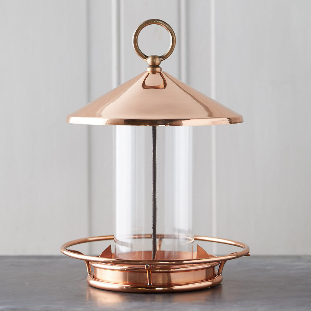 Solid Copper Bird Feeder