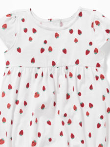 Little Loves: Strawberry Print Onesie and more!