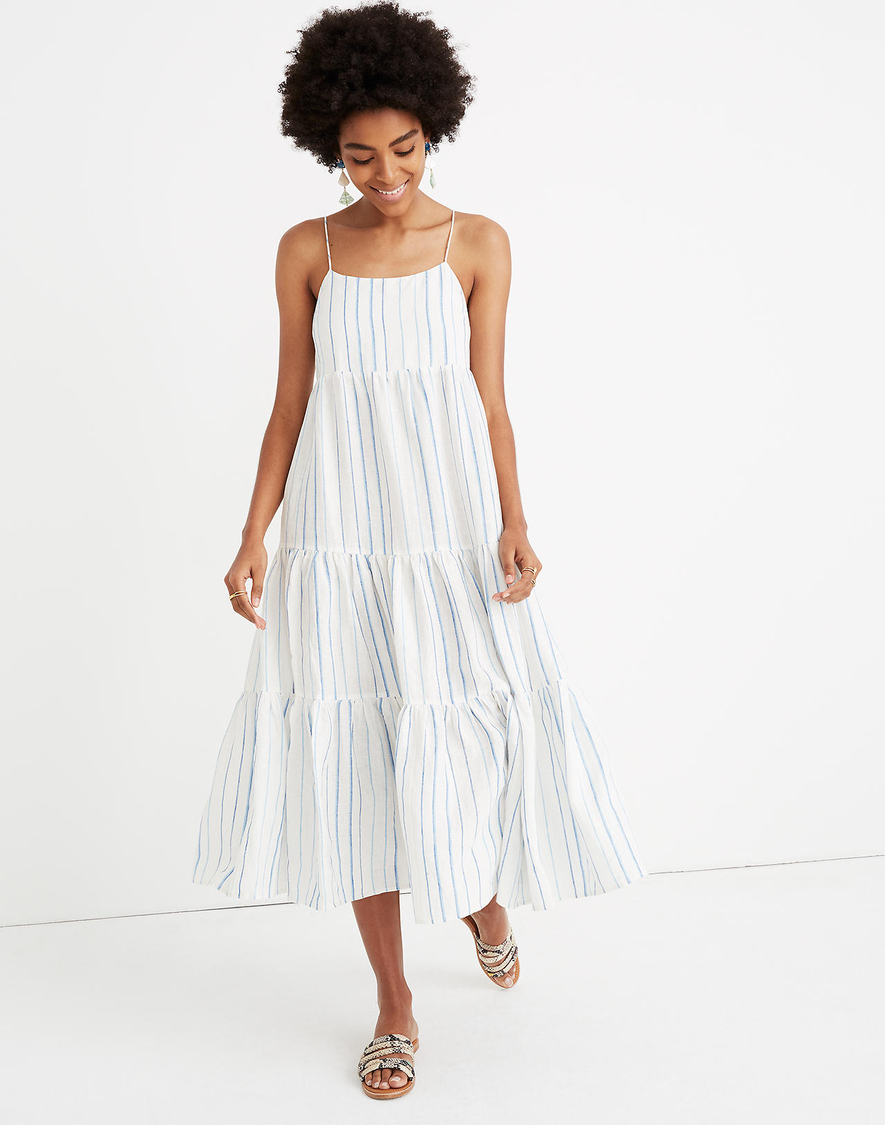 6de204699f5 stripe-cami-tiered-midi-dress-blue-white-madewell - Katie Considers