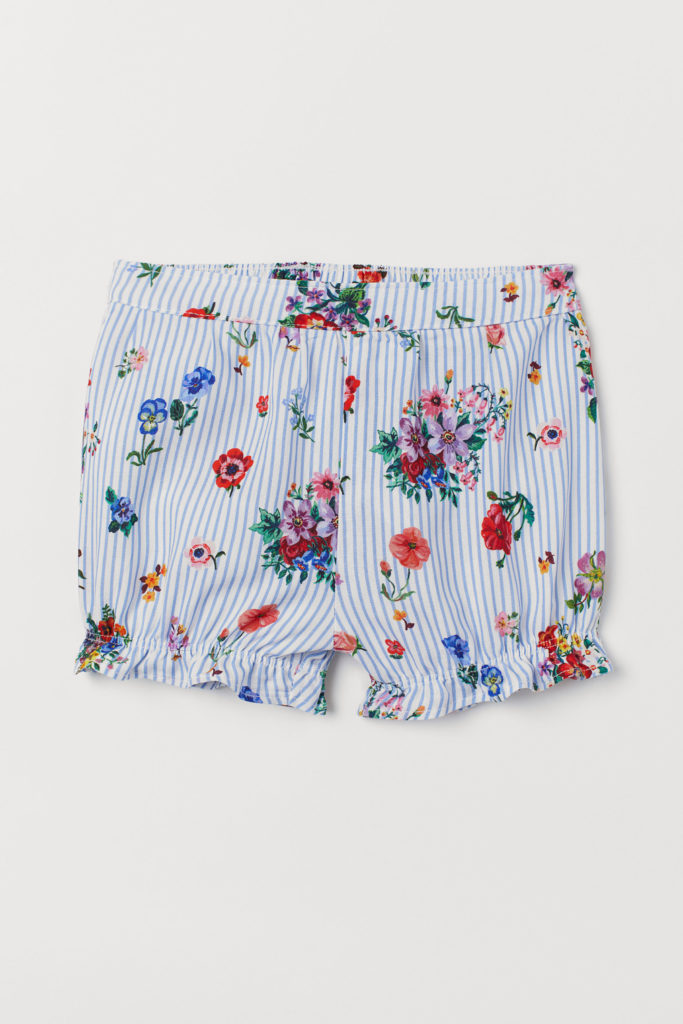 Ruffle-Trimmed Stripe Floral Shorts Baby Girl Nathalie Lete for H&M collaboration