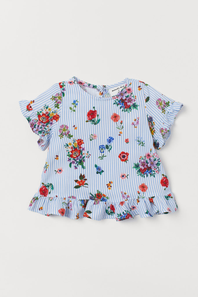 Stripe Ruffle Floral Top Baby Girl Nathalie Lete for H&M Collaboration