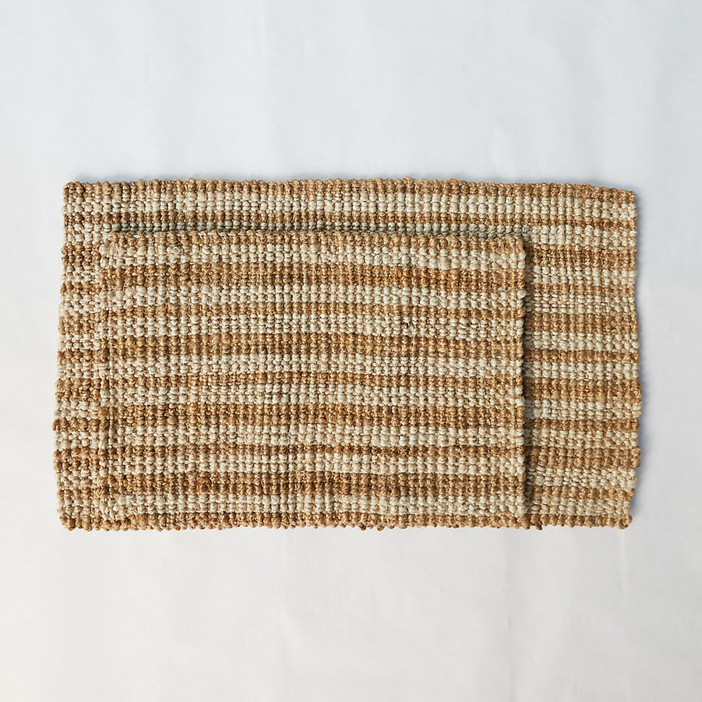 Stripe Jute Doormat